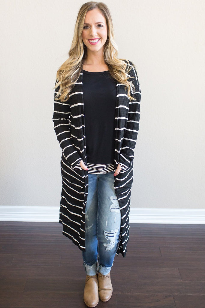Adyline Striped Cardigan