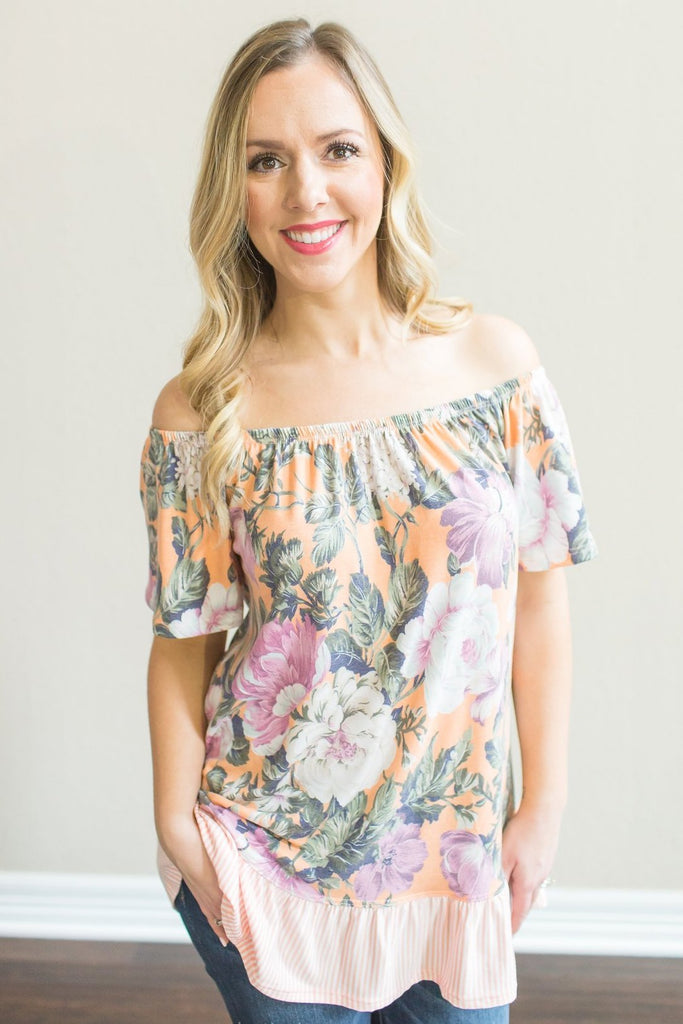 Z-Lilith Floral Off the Shoulder