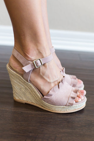 Love Wedge (black or blush)
