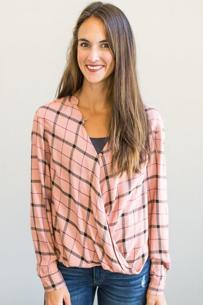 Z-Landyn Plaid Top