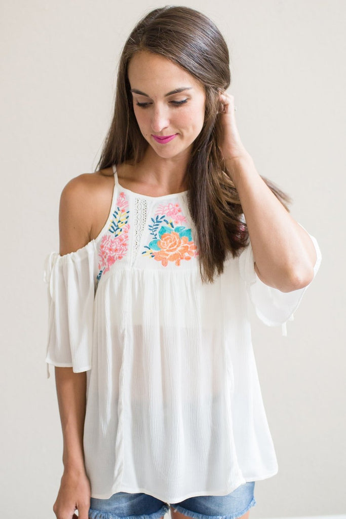 Emilia Embroidered Top