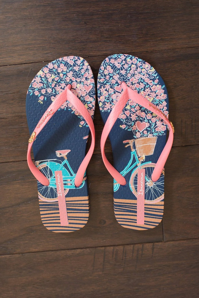 Ipanema Bouquet Flip Flop (Blue/Pink)