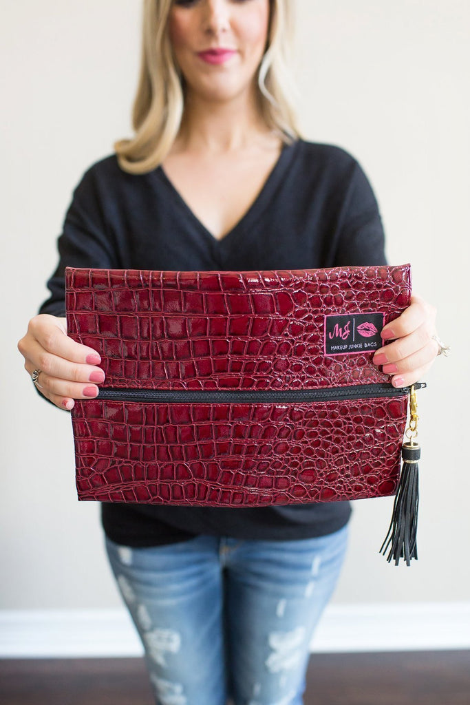Z-Makeup Junkie Bag - Merlot