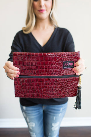 Makeup Junkie Bag - Merlot
