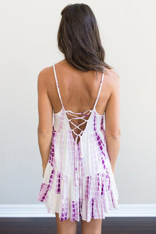 Grape Tie-Dye Sundress