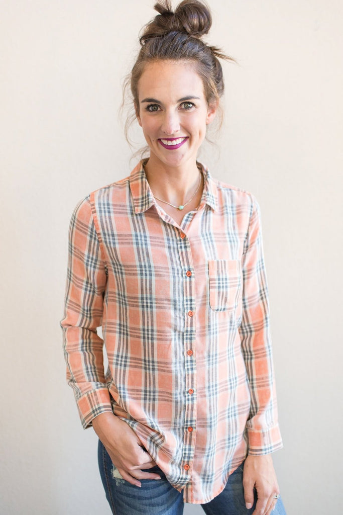 Giana Plaid Top