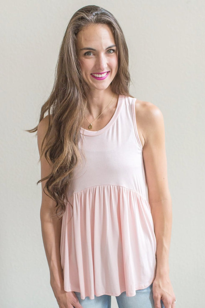 Z-Kara Tank Top (Black or Blush)