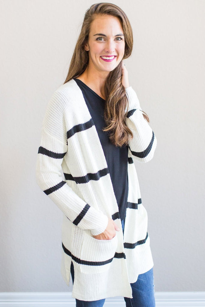 Ella Striped Cardigan