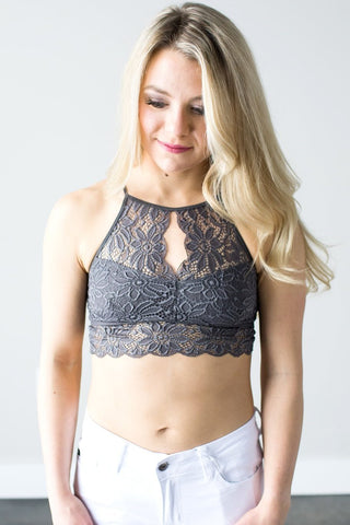 Keeley Lace Bralette  (Gray or Nude)