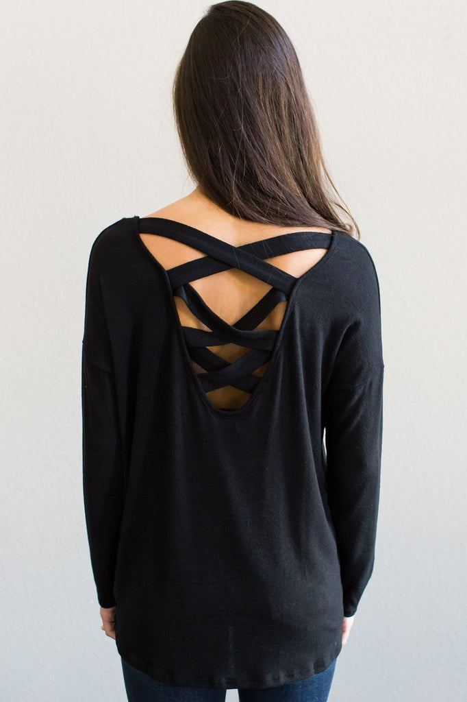 Z-Mallorie Caged Back Top