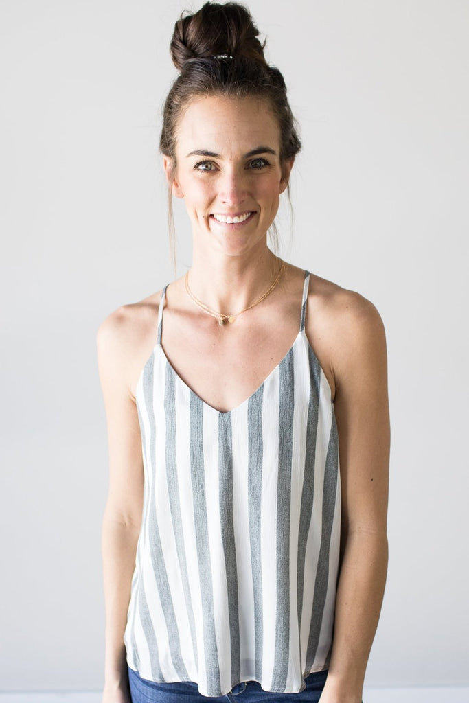 Autumn Striped Tank