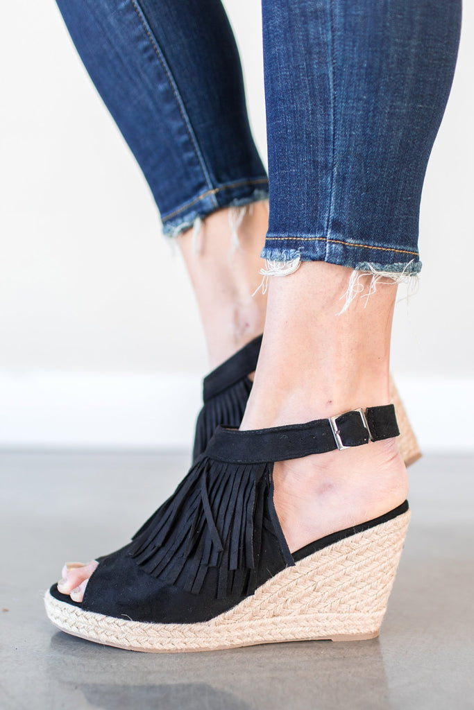 Ella Tassel Wedge