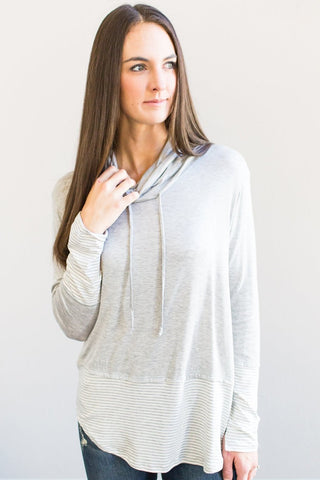 Quinn Cowl Neck (Heather Grey or Black)