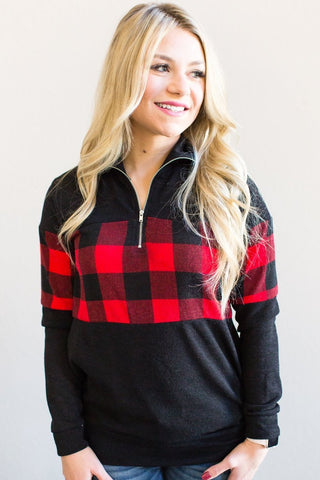 Asa Buffalo Plaid Pullover