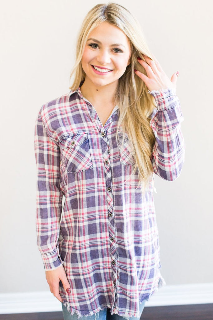 Z-Elena Plaid Tunic