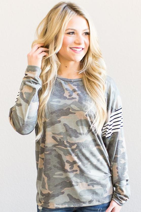 Faith Camo Top