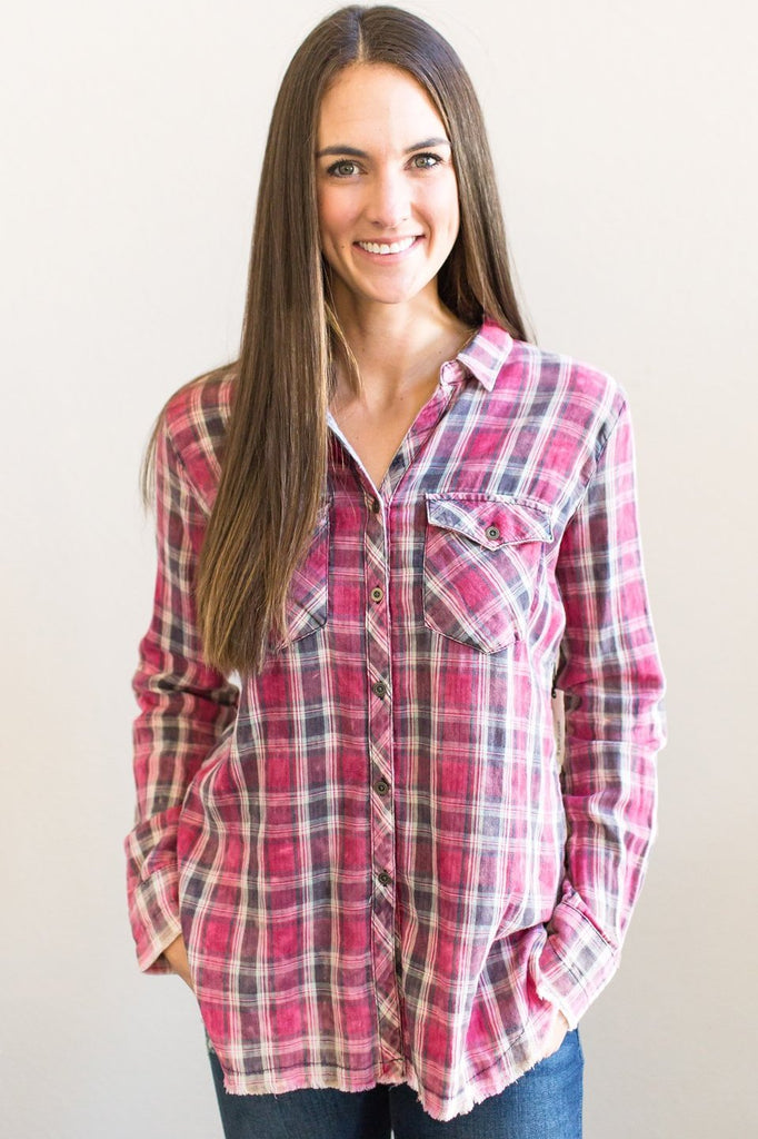 Z-Gabrielle Plaid Top