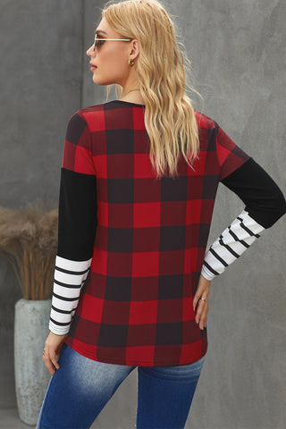 Holli Plaid Top