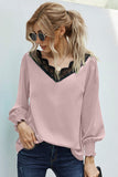 Sadie V-Neck Top (Black or Blush)