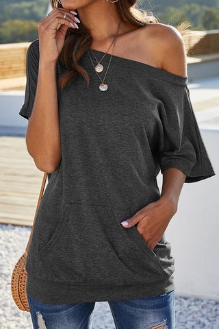 Lina One Shoulder Top - Pink or Charcoal