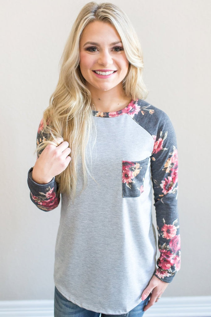 Z-Brix Floral Knit Top