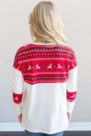Festive Holiday Top