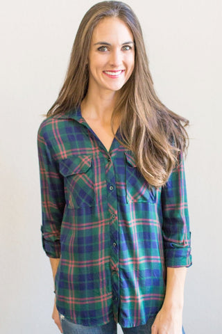 Hunter Plaid Button Down