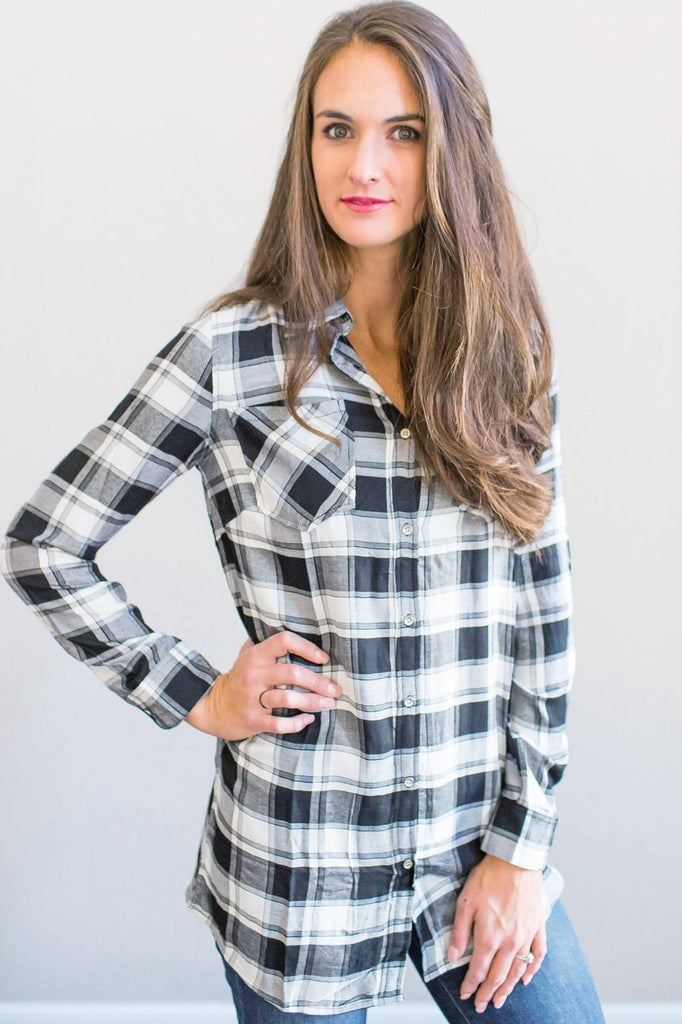 Z-Vivian Plaid Tunic