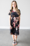 Z-Celeste Short Sleeve Floral Dress