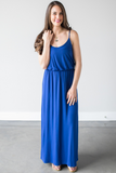 Raven Knit Maxi Dress  (Royal Blue or Black)