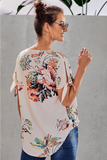 Z - Lilly Floral Tie Sleeve Top