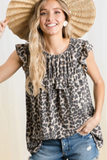 Z - Tinley Leopard Swing Top