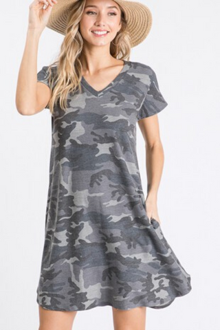 Addison Camo Dress