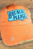 Brunch Please Vintage Distressed Hat