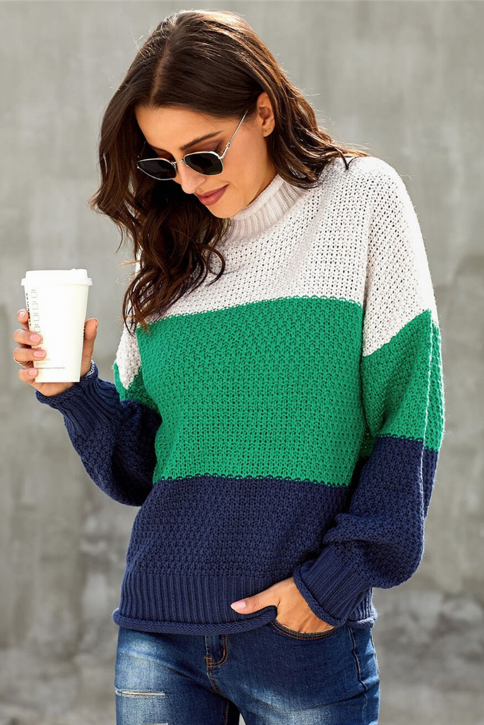 Rowan Color Block Sweater