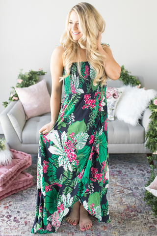 Z-Mireya Smocked Maxi Dress