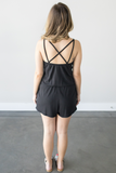 Z-Venetian Black Sleeveless Romper