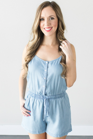 Celine Denim Romper