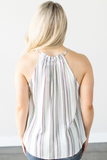 Z-Paige Striped Halter Top