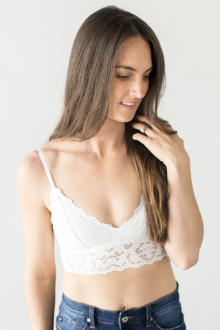 Rory Lace Bralette - Ivory or Sage
