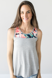 Z-Kalley Floral Contrast Top