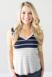 Liberty Striped V-Neck Tank