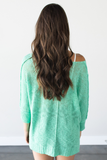 Z-Mallory V-Neck Knit Top - Mint
