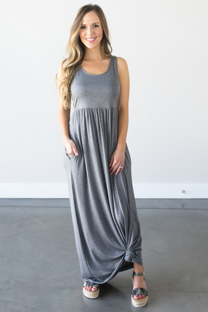 Z-Taylor Sleeveless Maxi in Charcoal