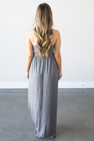 Taylor Sleeveless Maxi in Charcoal