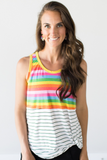 Z-Jackie Striped Sleeveless Twist Top