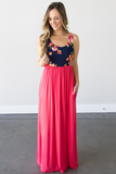 Z-Abby Floral Contrast Maxi