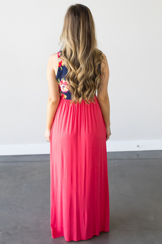 Abby Floral Contrast Maxi