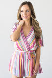 Evelyn Striped Romper