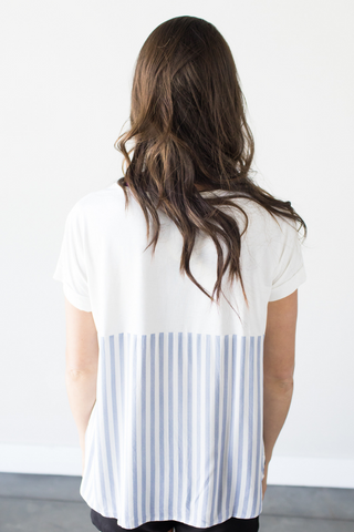 Aimee Striped Contrast Tee